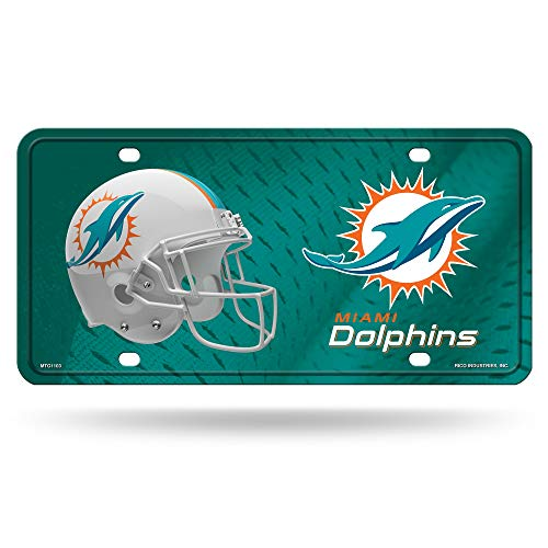 - Rico Industries NFL Miami Dolphins Metal License Plate Tag