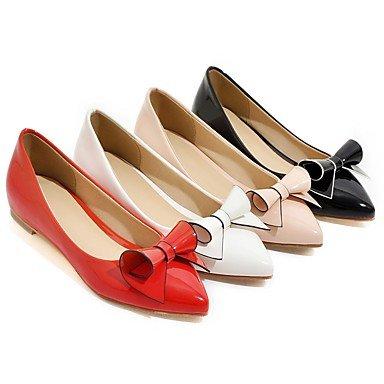 Cómodo y elegante soporte de talón de cuña de zapatos de tacón para mujer primavera verano comodidad piel sintética Casual otros negro rosa rojo blanco Walking negro
