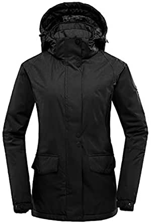 Amazon.com: Wantdo Women's Mountain Rain Jacket Windproof