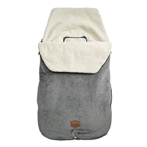 JJ Cole - Original Bundleme, Canopy Style Bunting Bag to Protect Baby from Cold and Winter Weather in Car Seats and Strollers, Graphite, Toddler