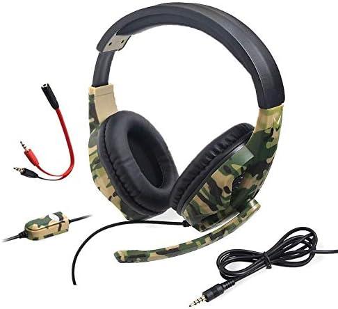 HNSYDS ヘッドセットゲーミングヘッドセット有線ヘッドセットコンピュータヘッドセットデュアルオーディオ音質のクリアは、2つの色が選択できます聴覚障害削減します ゲーミングヘッドセット (Color : Camouflage)