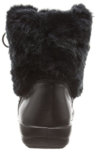 con otra forro cálido piel negro botines mujer Kim negro de bajos Padders qOCUTwO