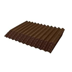 ONDURA 2358 Corrugated Asphalt Shingles (12-Pack), Brown