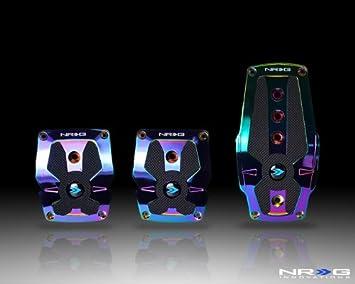 Black Rubber Inserts MT 2 Piece Neochrome Aluminum Part # PDL-250MC NRG Sport Pedals