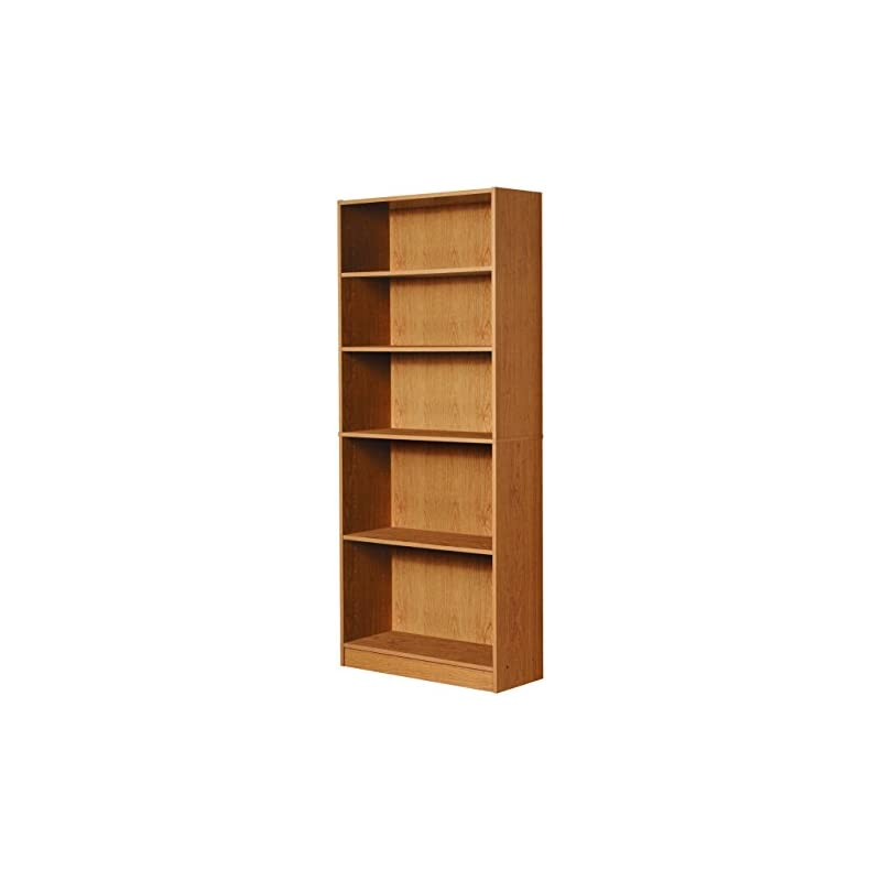 mylex-five-shelf-bookcase-three-adjustable