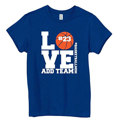 Create Your Own Personalized Custom Basketball Mom Add Number and Team Here T-Shirt Ladies Personalized Basketball
