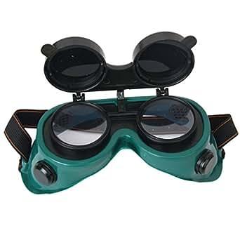Verdes Gafas Flip Objetivo Hacia Arriba Soldadura Gafas: Amazon.es: Industria, empresas y ciencia