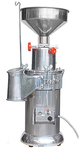 CGOLDENWALL 20kg/h Automatic Floor-Standing Continuous Hammer Mill Grinder Pulverizer for Grain Soybean Spice Herb with Funnel