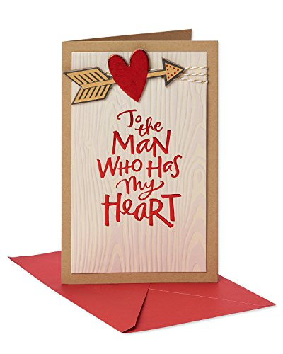 American Greetings Man Who Has My Heart Valentine's Day Card with Foil Photo #3