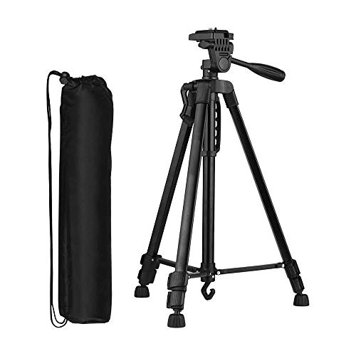 SUBTON Tripod Stand for Camera, DSLR, Mobile All in ONE Stand Robust N Strong for TIKTOK YouTube Family Kids Picnic Live Video Recording and Photoshoot- with Free Mobile Holder (3366 Black)