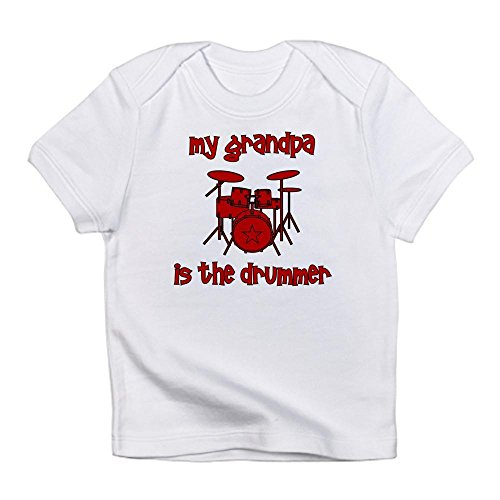 - CafePress - My Grandpa is The Drummer Infant T-Shirt - Cute Infant T-Shirt, 100% Cotton Baby Shirt