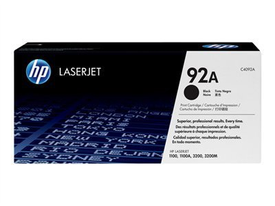 HEWC4092A - HP 92A (C4092A) Black Original LaserJet Toner Cartridge