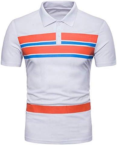 NISHISHOUZI Nueva Camiseta Hombre Polo a Rayas de Color ...