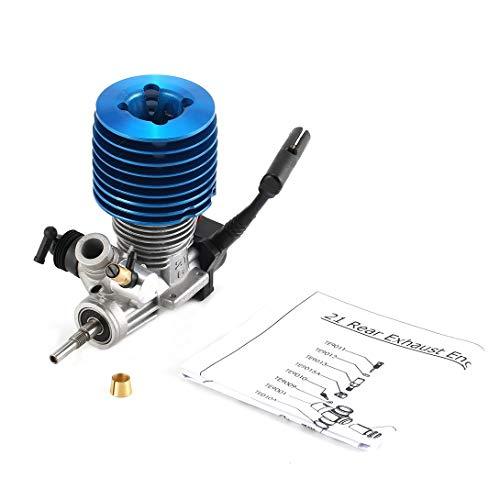 Swiftgood 2.49CC 15サイド排気金属エンジン1/10無線制御自動車用ハンドプルスターターリモコンおもちゃ