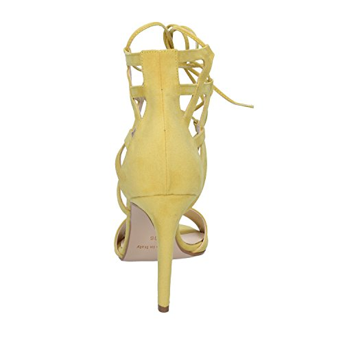 Woman Suede OLGA Pumps Synthetic RUBINI Sandals Yellow Heeled qxq1wfnIZg