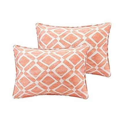 Amazon Madison Park Delray Diamond Printed Cotton Throw Pillow Interesting Madison Square Decorative Pillow