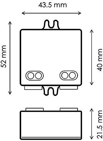 HuaTec Eaglerise Trasformatore LED 12V 30W Tensione Costante per Strisce LED Alimentatore Driver