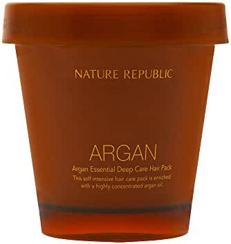 Nature Republic Argan Essential Deep Care Hair Pack, 200 ml / 6.76 Fl Oz