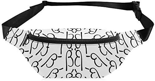 電子流-ブラックホワイトベータ ウエストバッグ ショルダーバッグチェストバッグ ヒップバッグ 多機能 防水 軽量 スポーツアウトドアクロスボディバッグユニセックスピクニック小旅行