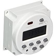 Uxcell 16 Amp AC 220V-240V LCD Digital Power Programmable Timer Switch Time Relay