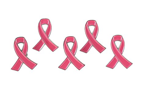 - Official Pink Ribbon Breast Cancer Awareness Lapel Pin (10 Pins)
