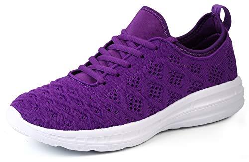 - JOOMRA Women Gym Sneakers Casual Ladies Lightweight Fashion Girls Teen Walking Running Sport Workout Athletic Tennis Shoes Purple Size 6.5
