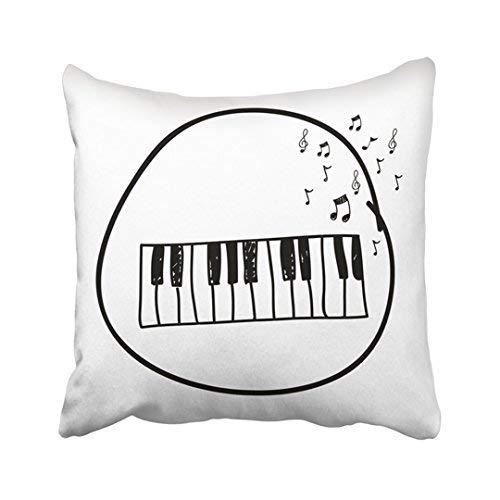 ZGNNN-EU - Funda de cojín con diseño de Teclado de Piano en ...