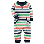 Carter's Baby Boys' Long Sleeve Striped Jumpsuit 3 Months