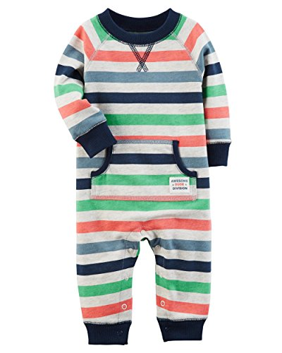 Carter's Baby Boys' Long Sleeve Striped Jumpsuit 9 Months