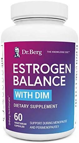 Dr. Berg's Estrogen Balance with DIM Diindolylmethane/Promotes Healthy Estrogen Metabolism, Vegetarian Capsules – Aromatase Inhibitor to Support Healthy Estrogen Levels