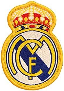Real Madrid C.F.Parche para coser o pegar con la plancha, diseño de escudo del FC Barcelona.: Amazon.es: Hogar