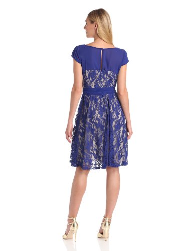 Julian Taylor Women's Fit And Flare Lace Dress