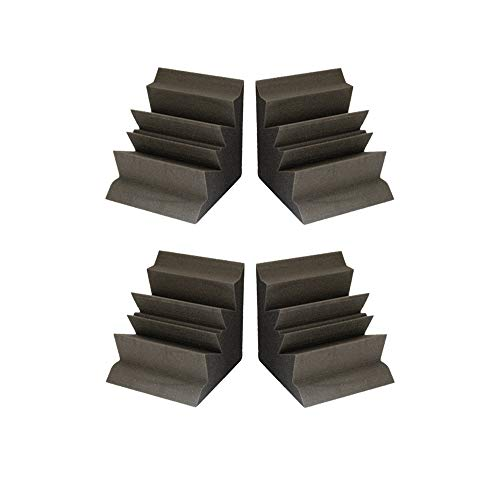Set of 4 - Acoustic Foam Acoustic Studio Soundproofing Corner Wall 12 X 12 X 24