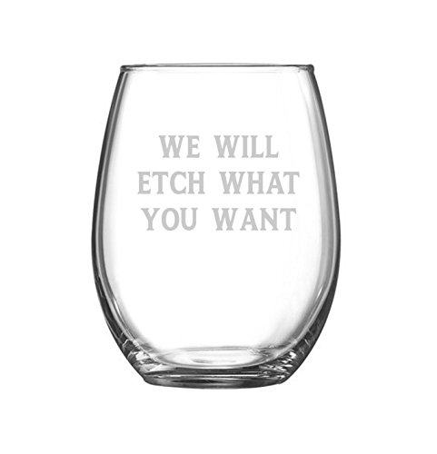 Personalized 21 oz Stemless Wine Glasses - Set of - With See What Glasses Would Look You Like