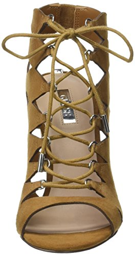 Sandalias Ebini Natural Tacón Marrón De Guess medium TZHwpFxnnq