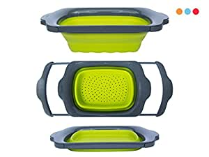 Amazon Com Colander Collapsible Green Amp Grey Over The