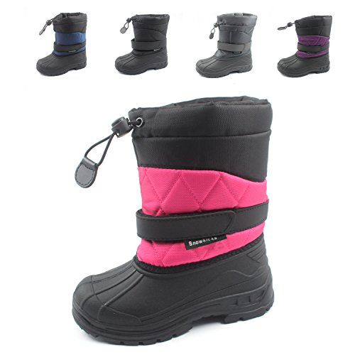 Snowkicks Cold Weather Kids Childrens Snow Boots Unisex (Toddler/Little Kid/Big Kid) Many Colors Pink