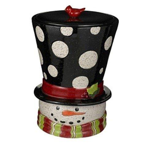 Grasslands Road Snowman Head Cookie Jar