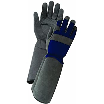Garden gloves with extra long cuffs for Gardening gloves amazon