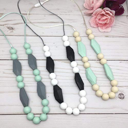 Silicone teething necklace for Mom, Teether necklace, Chew Necklace for Mom. by Gummy Chic