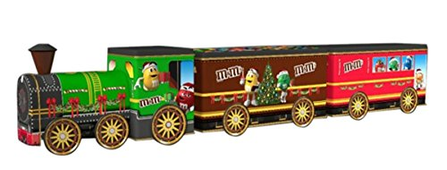 M&M's Collectible Tin Christmas Train Set with Chocolate Candies, 2.76 oz