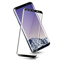 Bestfy Galaxy S8 Plus Screen Protector, 3D Curved Full Coverage Whole Tempered Glass for Galaxy S8 Plus, Black from Bestfy