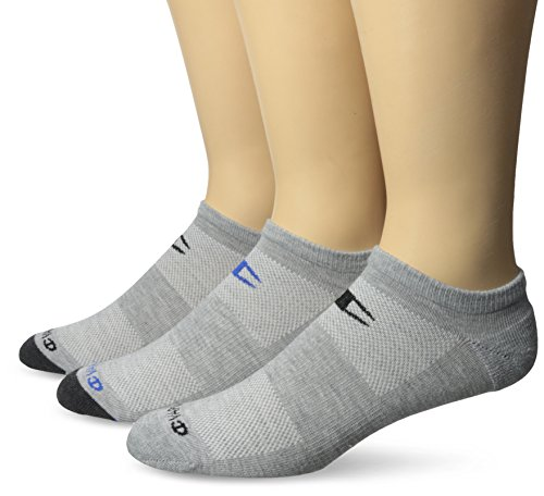 Champion Men's 3 Pack No Show Training Socks, Grey Assortment, Sock Size: 10-13/Shoe Size:9-11 (Shorts Womens Champion 1 Mesh)