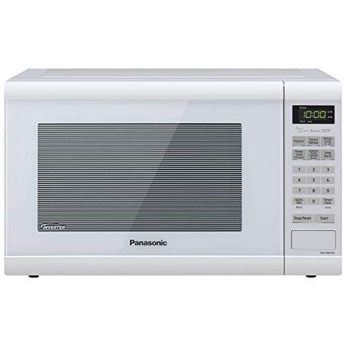 Panasonic Microwave Oven NN-SN651WAZ White Countertop with Inverter Technology and Genius Sensor, 1.2 Cu. Ft, 1200W (Certified Refurbished)