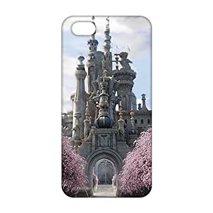 alice in wonderland white queen castle 3D For Iphone 5/5S Phone Case Cover
