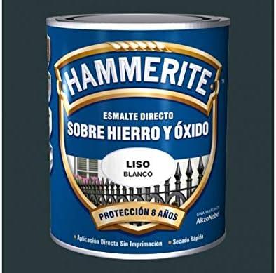 Esmalte Antioxidante Satinado DIRECTO AL HIERRO HAMMERITE Gris Oscuro 750 Ml.