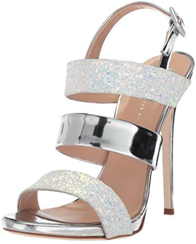 - GIUSEPPE ZANOTTI Women's E800112 Heeled Sandal, Milk, 8 B US