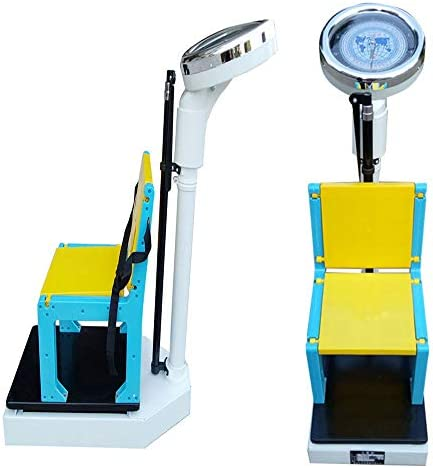 YSCC Foldable Child Mechanical Scale & Height Meter 2-in-1,Digital Physician Scale,Adjustable error,50kg&110lb,perfect for gyms hospitals