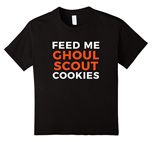 Costume Ideas Boy Scout (Kids Funny Halloween Ghoul Scout Cookies T-Shirt 12)
