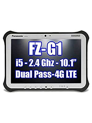 PANASONIC TOUGHPAD FZ-G1 FZ-G1P2636VM i5 2.4GHz, 4G LTE, 8MP Cam, 256GB SSD. 8GB Ram, Windows 10 Pro